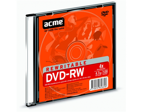 Acme DVD-RW 4.7 GB, 4 x, Plastic Slim Box