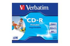 Verbatim CD-R AZO Wide Printable 0.7 GB, 52 x, Jewel Box