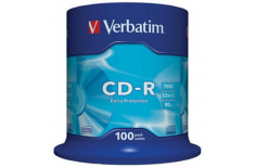 Verbatim CD-R Extra Protection 0.7 GB, 52 x, 100 Pack Cake Box