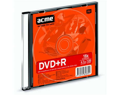 Acme DVD+R 4.7 GB, 16 x, Slim Box