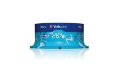 Verbatim CD-R AZO Crystal 0.7 GB, 52 x, 25 Pack Spindle