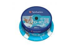 Verbatim CD-R AZO Wide Printable 0.7 GB, 52 x, 25 Pack Spindle