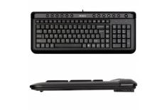 A4Tech Keyboard KL40, slim, multimedia, wired, Keyboard layout EN/RU, black, USB