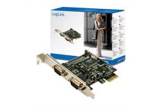 Logilink PCI-express interface card, 2x com(serial)