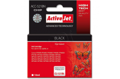 Action ActiveJet ACC-521BN (Canon CLI-521Bk) Ink Cartridge, Black