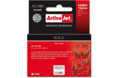 Action ActiiveJet ACC-8BN (Canon CLI-8Bk) Ink Cartridge, Black