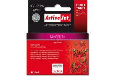 Action ActiveJet ACC-521MN (Canon CLI-521M) Ink Cartridge, Magenta