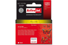 Action ActiveJet ACC-521YN (Canon CLI-521Y) Ink Cartridge, Yellow