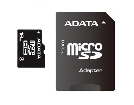 ADATA 8 GB, MicroSDHC, Flash memory class 4, SD adapter