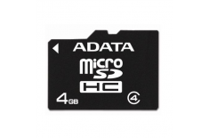 ADATA 4 GB, Micro SDHC, Flash memory class 4, No
