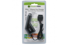 PowerMax Car Charger PPC006 12-24V 5V 2A for iPhone, iPad, iPod