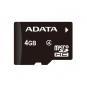 ADATA 4 GB, MicroSDHC, Flash memory class 4, SD adapter