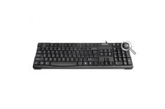 A4Tech keyboard KR-750, USB (Black) (US+Lithuanian), Rounded Edge Keycaps A4Tech Keyboard, Keyboard layout US+LT, USB