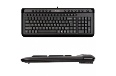 A4Tech keyboard KL-40, USB (Black) (US+Lithuanian), Slim A4Tech Natural_A Multimedia Keyboard, Keyboard layout US+LT, USB