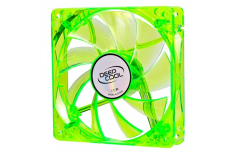 80 mm case ventilation fan, transparent Green frame with Blue LED, 3Pin/2pin