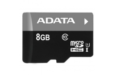 ADATA Premier UHS-I 8 GB, MicroSDHC, Flash memory class 10, No