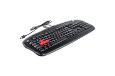 A4Tech Game Master keyboard KB-28G multimedia, wired, Keyboard layout EN/RU, USB, black