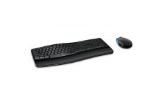 Microsoft L3V-00021 Sculpt Comfort Desktop Standard, Wireless, Keyboard layout EN, Black, Mouse included, Numeric keypad