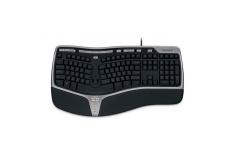 Microsoft B2M-00006 Natural Ergonomic Keyboard 4000 Multimedia, Standard, Keyboard layout EN, 1.53 m, Black, English, 1.3 kg