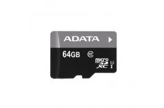 ADATA Premier UHS-I 64 GB, MicroSDXC, Flash memory class 10, SD adapter
