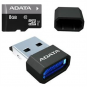 ADATA Premier UHS-I 8 GB, MicroSDHC, Flash memory class 10, USB