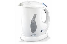 Adler AD 02 Cordless Water Kettle mini, 0.6L, 760W, Filter, Boil-dry protection , White