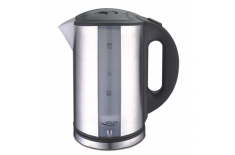 Adler AD 1216 Cordless Water Kettle, 1.7L, 2000W, Filter, Boil-dry protection, Rotary base 360 degree, Illumination, Inox body