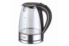 Adler AD 1225 Cordless Water Kettle, 1.7L, 2000W, Anti-calc filter, Boil-dry protection, Rotary base 360 degree
