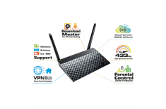 Asus Router RT-AC51U 10/100 Mbit/s, Ethernet LAN (RJ-45) ports 4, 2.4GHz/5GHz, Wi-Fi standards 802.11ac, 300+433 Mbit/s, Antenna