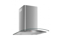 Cata C-500 Glass Wall hood,,Chimney& 39 & 39 type, 3 extraction levels, 620 kub.m, Lamps 2x40 W, 150/125mm., Mechanical push but