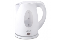 Adler AD 1207 Cordless Water Kettle, 1.5L, 2000W, Filter, Boil-dry protection, White