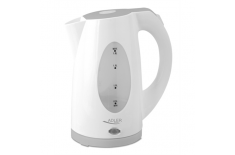 Adler AD 1208 Cordless Water Kettle, 1.8L, 2000W, Anti-calc filter, Boil-dry protection , White