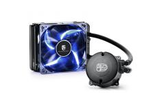 Maelstorm 120T, universal cpu liquid cooler, 120mm radiator, blue PWM LED fan