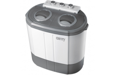 Camry CR 8052 Mini washing machine with spinning function, Washing capacity up to 3kg, Spinning capacity up to 1kg, White-Gray