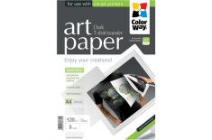 ColorWay ART Photo Paper T-shirt transfer (dark), A4, 120 g/m2, 5 sheets