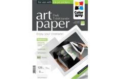 ColorWay ART T-shirt transfer (dark) Photo Paper, 5 sheets, A4, 120 g/m