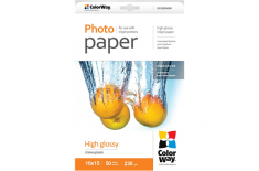 ColorWay High Glossy Photo Paper, 10x15, 230 g/m2, 50 sheets