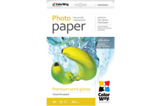 ColorWay Premium Semiglossy Photo Paper, 20 sheets, A4, 255 g/m
