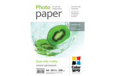 ColorWay Matte Dual-Side Photo Paper, A4, 220 g/m2, 20 sheets