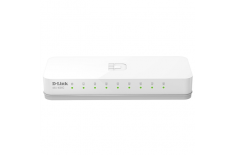 D-Link Switch DES-1008C Unmanaged, Desktop, 10/100 Mbps (RJ-45) ports quantity 8, Power supply type Single