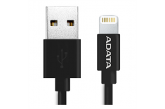 A-Data Sync and Charge Lightning Cable for iPhone, iPad, iPod (1m) - Black plastic