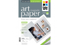 ColorWay ART Matte Magnetic Photo Paper, 5 Sheets, A4, White, 650 g/m