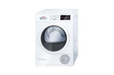 Bosch WTW854L8SN Dryer Machine Condensed, 8 kg, Energy efficiency class A++, Number of programs 9, Self-cleaning, White, LED, De
