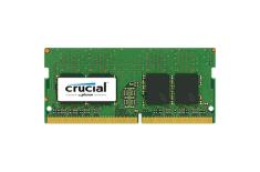 Crucial 4GB DDR4 SODIMM PC4-19200 2400MT/s, CL 17, Single Ranked x8, Unbuffered, NON-ECC, 1.2V, 512M x 64