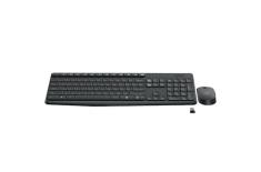 Logitech MK235 Wireless, Black, Mouse included, Czech, Hungarian, Po, Numeric keypad, 475 g