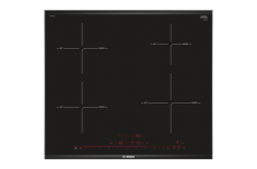 Bosch Hob PIE675DC1E Induction, Number of burners/cooking zones 4, Black, Display, Timer