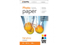 ColorWay A4, High Glossy Photo Paper, 50 Sheets, A4, 180 g/m