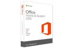 Microsoft 79G-04631 Office Home and Student 2016, Full packaged product (FPP), Latvian, Medialess