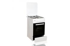 Klass TE-5640 WH Hob type Gas, Oven type Electric, White, Width 50 cm, Grilling, Depth 60 cm, 46 L