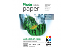 ColorWay High Glossy dual-side Photo Paper, 20 sheets, A4, 220 g/m